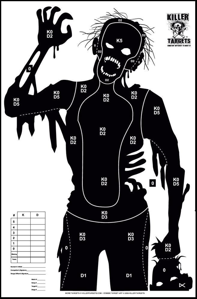 free online printable shooting targets zombies and toys a killer