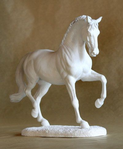David an artist resin warmblood sculpture