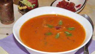 supa crema de linte cu sfecla rosie