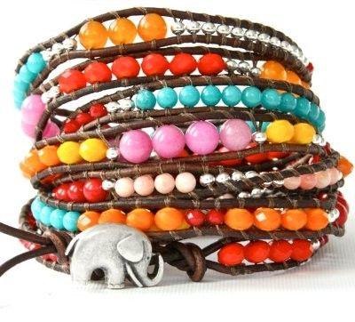 Colorful wrap bracelet #boho