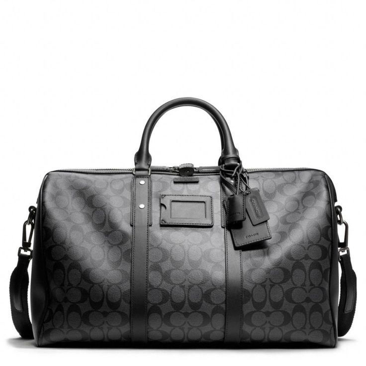 The Bleecker Signature Monogram Duffle from Coach - I want some Coach luggage!