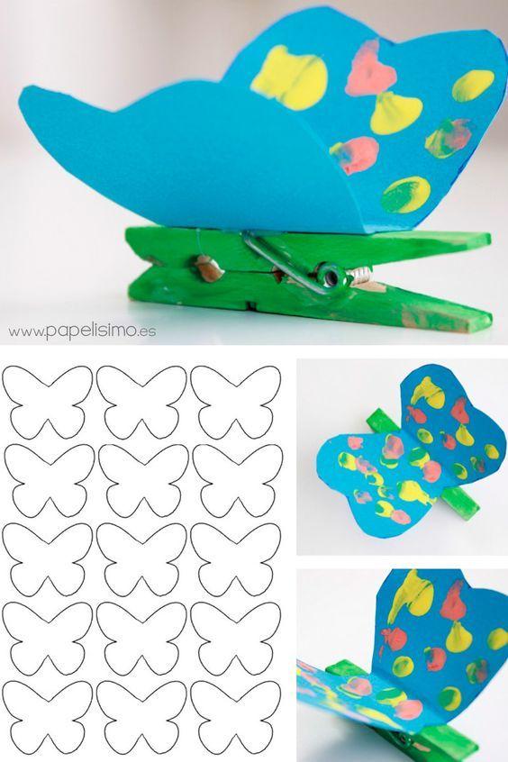 Idée activité pour centre de loisirs : fabriquer des papillons