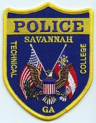 Savannah Georgia Tech College Patch Police Department Law Enforcement Officer