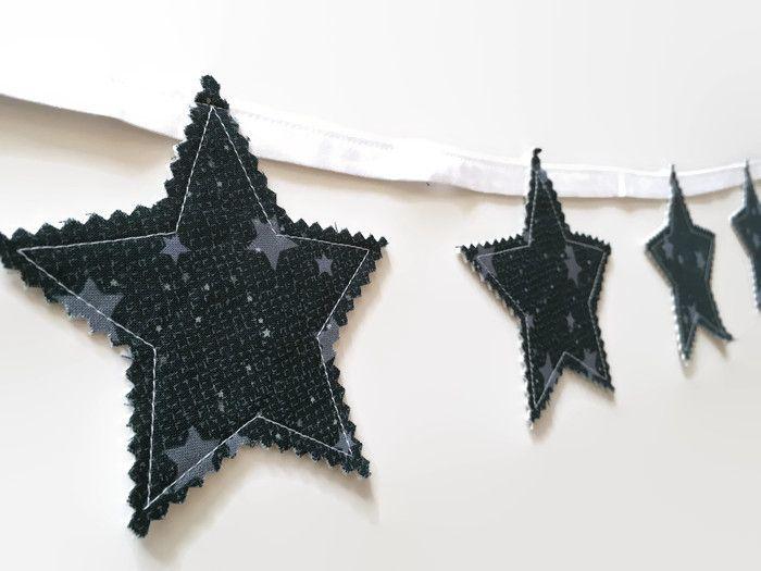 Night sky decor  starry night nursery stars star garland