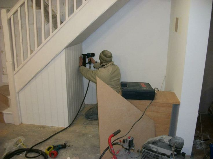 building an under stair office & squeezing in a small cupboard.