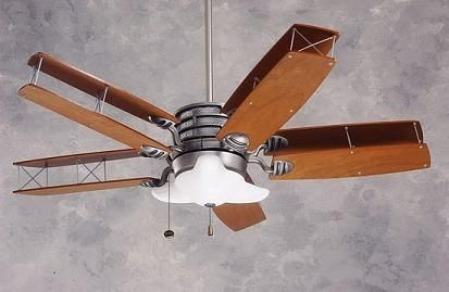 Airplane Ceiling Fan with Double Wood Propeller