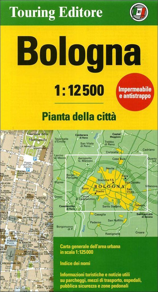Buy map: Bologna, Italy by Touring Club Italiano – YellowMaps Map Store