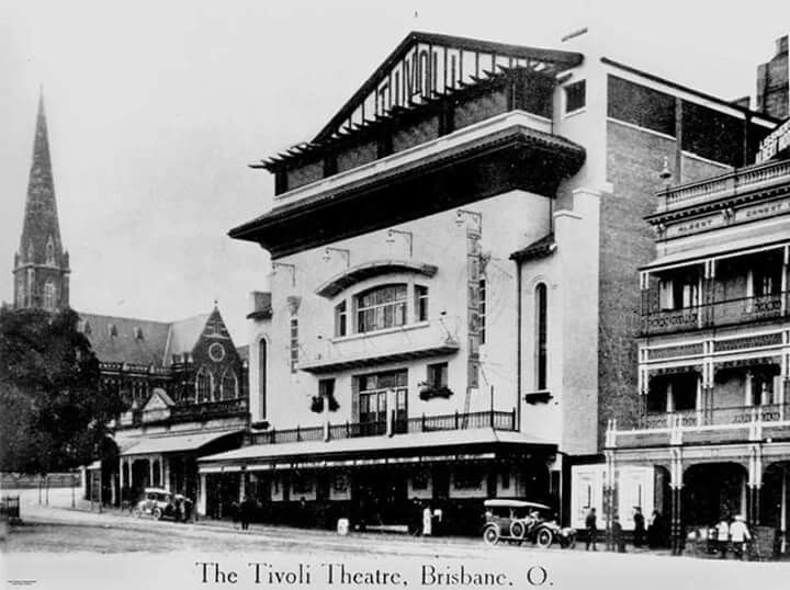 the old tivoli movie theatre in king george square. Black Bedroom Furniture Sets. Home Design Ideas