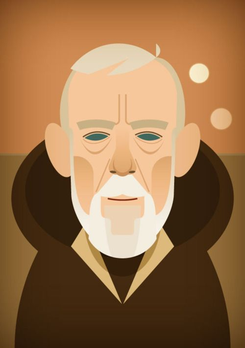 The one and only Obi-Wan Kenobi by @stan_chow.  stanleychowillustration:    Ben!