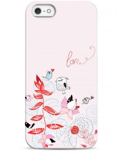 Влюбленные птички - iPhone 5 / 5S / 5C Дизайнерские чехлы для iPhone #чехлы для iPhone #love