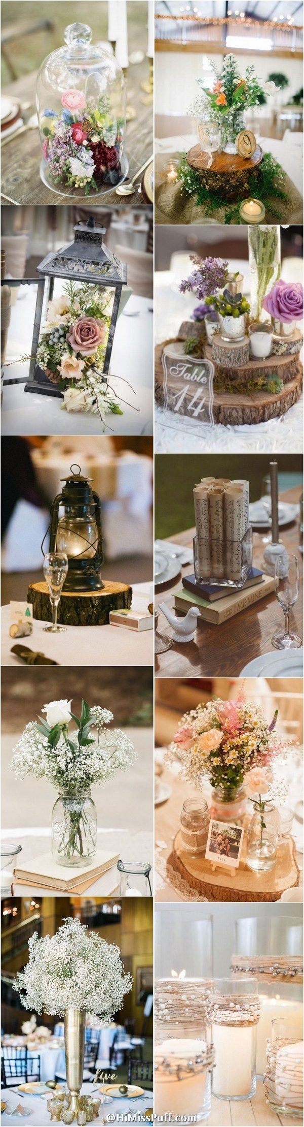 100 Country Rustic Wedding Centerpiece Ideas / http://www.himisspuff.com/rustic-wedding-centerpiece-ideas/