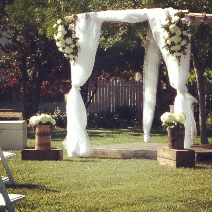 Rustic Wedding Arbors: 58 Best Ceremony Arches Images On Pinterest