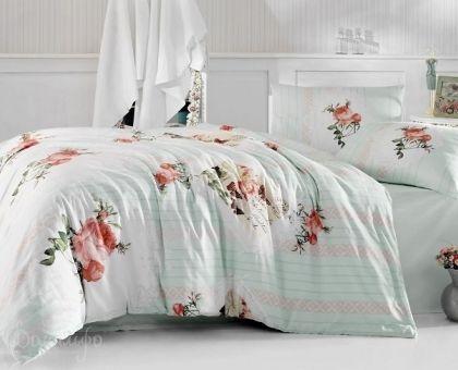 Купить постельное белье RANFORCE ULYA светло-зеленое 50х70 евро от производителя Altinbasak (Турция)