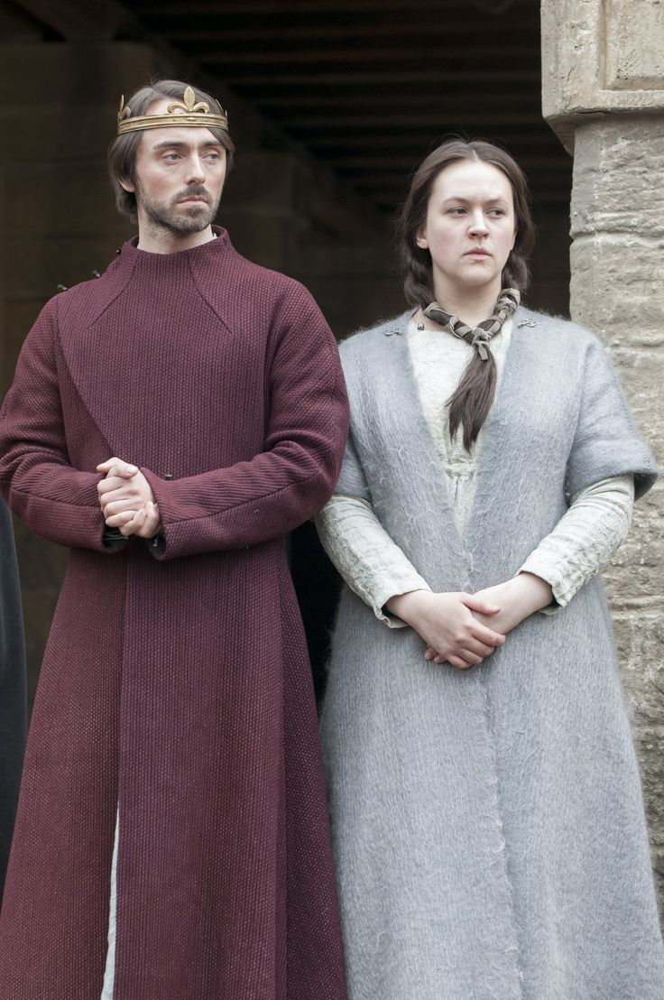 King Alfred and Aelswith - David Dawson and Eliza Butterworth in The Last Kingdom, set in the late 9th century (TV series 2015).