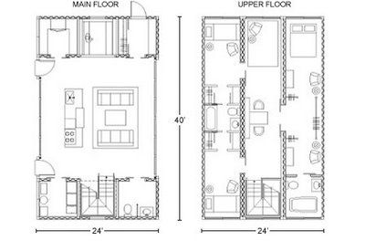 Floor Plans For A 4 Bedroom Shipping Container Home