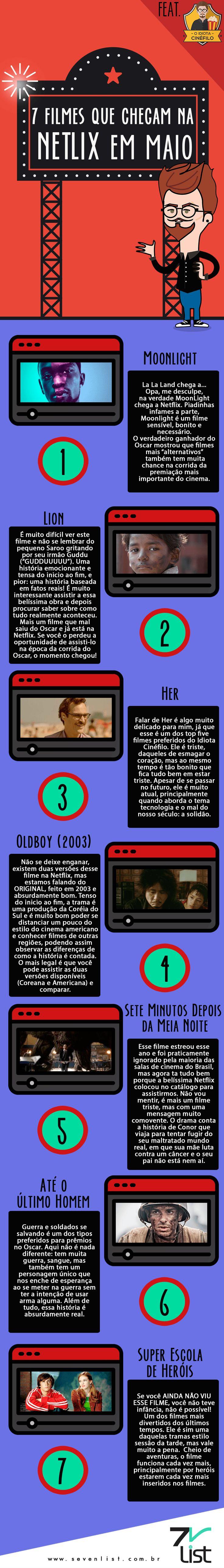 Chegou a hora de comemorar, veja a lista que @oidiotacinefilo preparou com 7 filmes que chegam em maio na Netflix. #Sevenlist #Maio #Netflix #NovidadesNetflix #Cinema #Cine #Filmes #Movie #Film #Oidiotacinéfilo #Blog #Brazil #Dicas #Cultura #Oscar