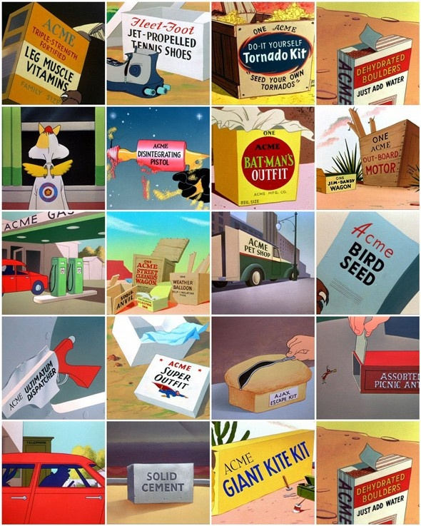 A Collection of Acme Cartoon Products