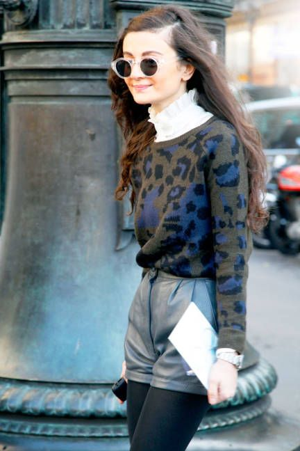 leopard gets sweeter when done as a knit #streetstyle