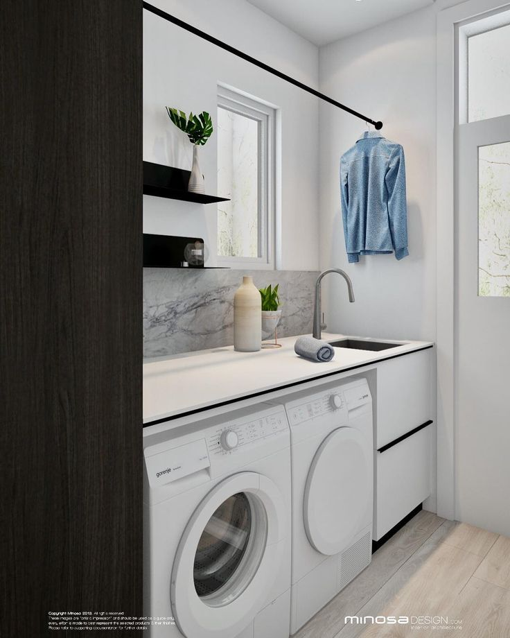 Small laundry space at our #concord project looking good? #minosakitchen #designlifebetterwithminosa #designlifebetter #pytha3dcad