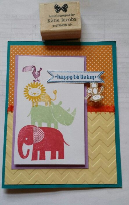 "Stampin' Up! ""Zoo Babies"" stamp set"