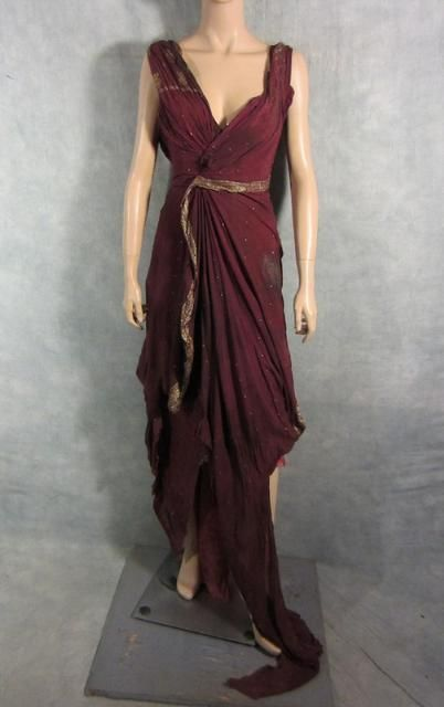 SPARTACUS GAIA JAIME MURRAY SCREEN WORN UPPER CLASS ROMAN GOWN PREQUEL 04