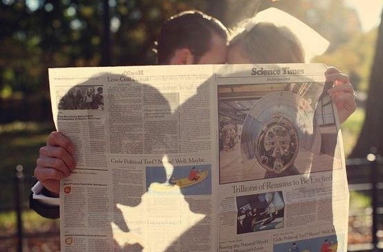 newspaper: Engagement Pictures, Photos Ideas, Engagement Photos, Cute Ideas, Unique Wedding, Wedding Photos, Engagement Pics, Engagement Shoots, Wedding Pictures