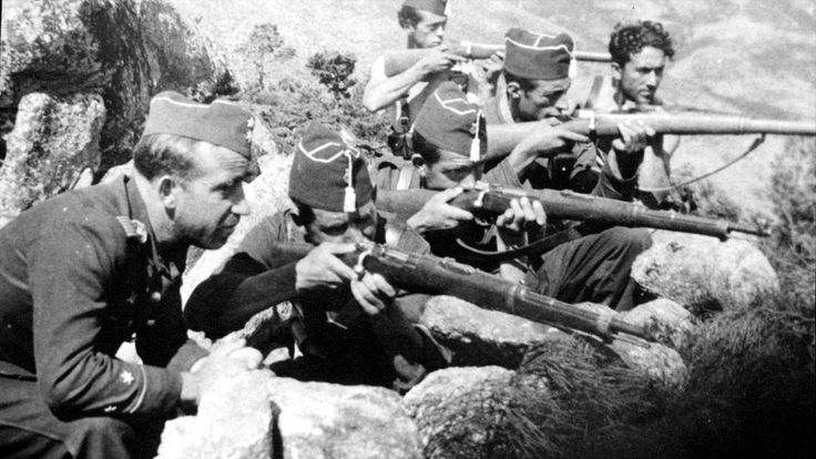 Spain - 1936. - GC - Tropas nacionales conquistan Navalperal de Pinares (Avila) tras duros combates