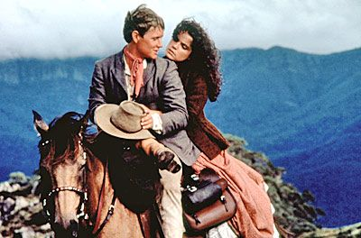 The Man from Snowy River.  That scene when he goes down the mountain? Sigh...and the theme music? Jessica's theme?