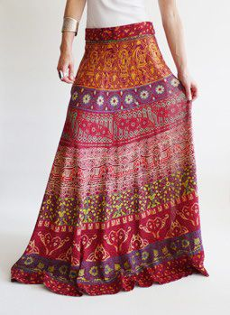 Seventies vintage Indian hippie skirt @ www.secondhandnew.nl