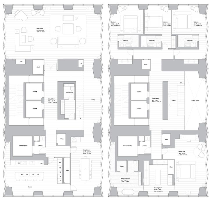 The Most Awe Inspiring New York City Floorplans Floor Plans Norman Foster How Plan