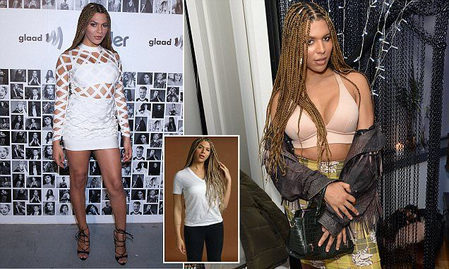 A well balanced young woman chips on both Shoulder's L'Oreal transgender model says all white people are racist