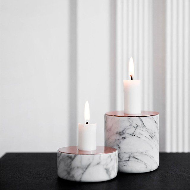 Fancy - Chunk of Marble Candleholder