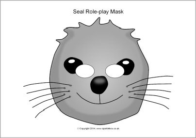 seal mask coloring pages - photo#4