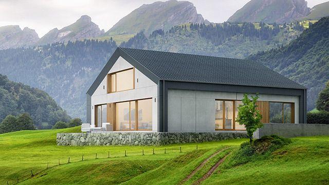 Model H1   netto woonoppervlakte 143 m²   aantal kamers 4-5   minimale perceelgrootte 17 m × 20 m KLASSIEK FAMILIEHUIS MET DAKTERRAS  Het huis type H1, combineerd de eenvoud van een klassieke woning met moderne architectuur en een functioneel interieur. De ruime, open woonkamer op de begane grond is bevorderlijk voor familie bijeenkomsten. Een deel