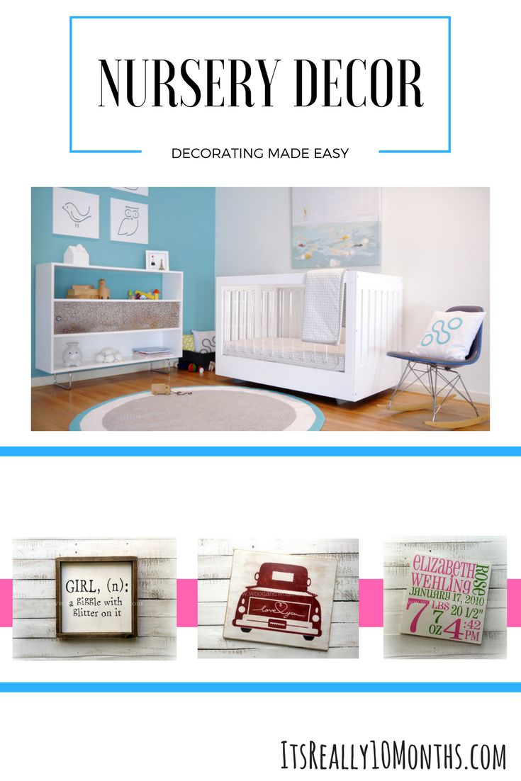 Adorable and fun nursery decor for the perfect baby room.