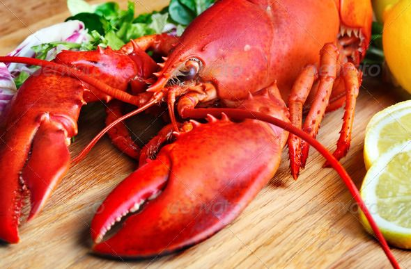 Realistic Graphic DOWNLOAD (.ai, .psd) :: http://jquery-css.de/pinterest-itmid-1007096725i.html ... Boiled lobster and lemon ...  Prepared Shellfish, crustacean, food, herb, large, lemon, lobster, red, restaurant, seafood, steamed  ... Realistic Photo Graphic Print Obejct Business Web Elements Illustration Design Templates ... DOWNLOAD :: http://jquery-css.de/pinterest-itmid-1007096725i.html
