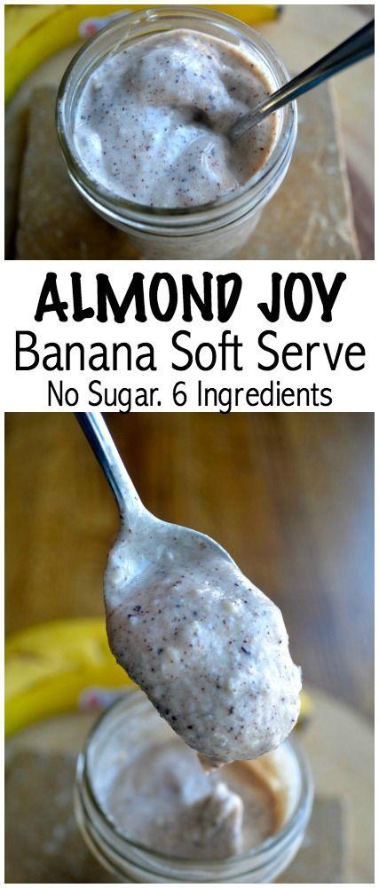Almond Joy Soft Serve. Made in your blender. No sugar. YUM
