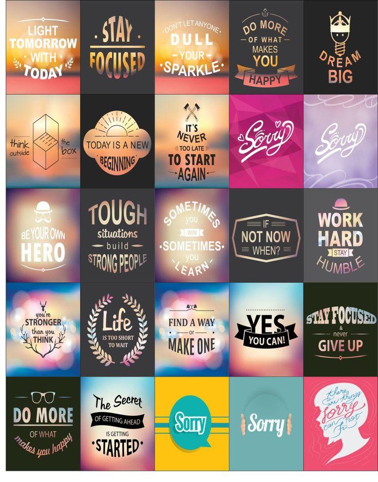 Free Printable-HP Inspirational Planner Sticker Sheet