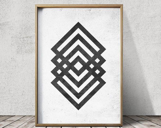 Geometrische Art - geometrische Prints - abstracte Prints - Scandinavische kunst - minimalistische kunst wordt afgedrukt