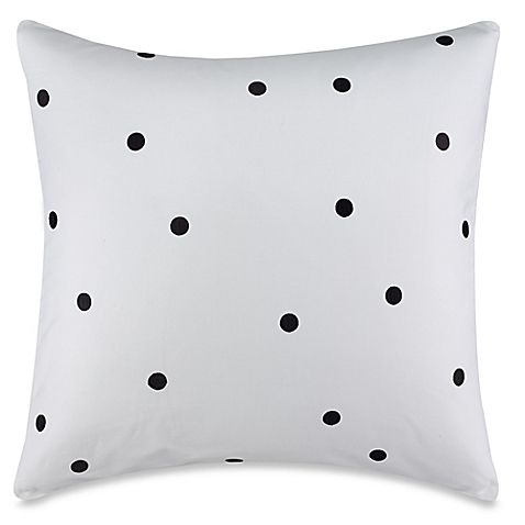 kate spade new york Willow Court Deco Dot European Pillow Sham in Black