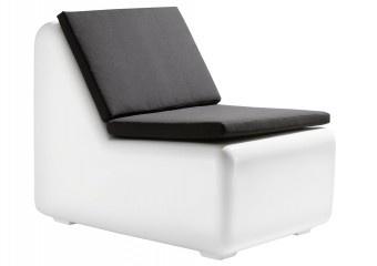 Design hält Einzug im Gartenmöbelbereich. Mit Anleihen an 60er Jahre Design Klassiker ist der elegante Lounge-Sessel ein Blickfang auf jeder Terrasse.