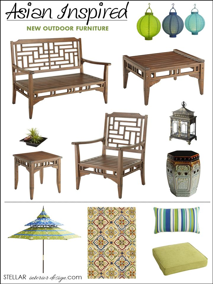 Outdoor Furniture, Home Decorating Ideas, Outdoor Home Decor, Asian Inspired Decor, Interior Design, Pier One, e-decorating, Shop this Look here, www.stellarinteriordesign.com/outdoor-furniture/