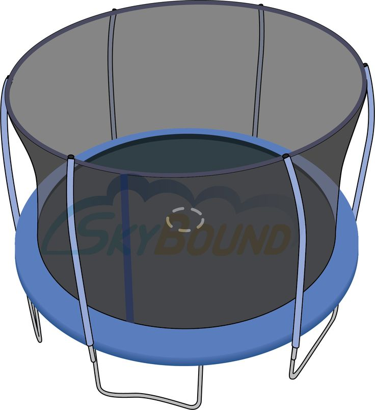 127 Quot 10 7 Quot Round Trampoline Mat With 72 V Rings And