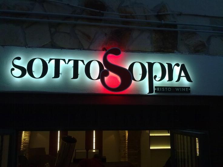 Restaurant led sign.
