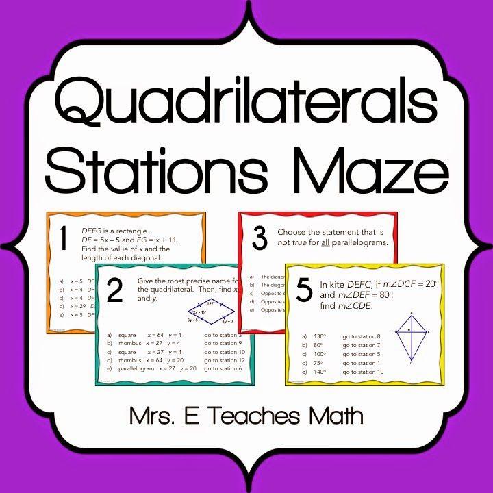 Reviewing with Stations Maze Activities - fun geometry and algebra 2 activities  |  mrseteachesmath.blogspot.com