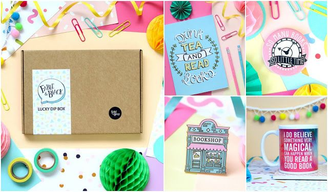 With Love for Books: Fable & Black Notebook, Pocket Mirror, Pin, Mug an...