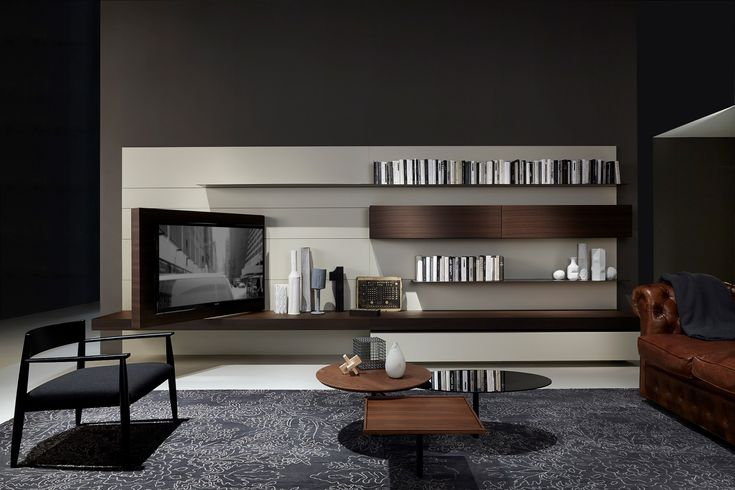 porro salone del mobile 2013 flag tv unit integrated with load it and modern systems all. Black Bedroom Furniture Sets. Home Design Ideas