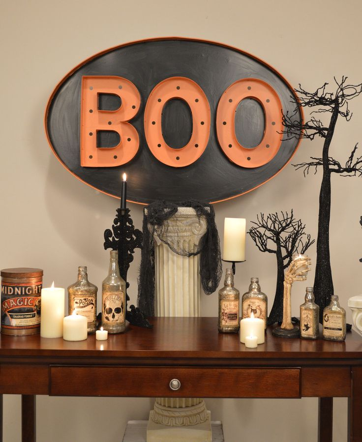 Boo Marquee Sign - Bethany Lowe – Black Bow Halloween Shoppe. Large vintage-style tin sign with G-30 lights included. Perfect for the Halloween season! Bethany Lowe. Some assembly required. 26″ x 40″. It's HUGE! FREE SHIPPING!
