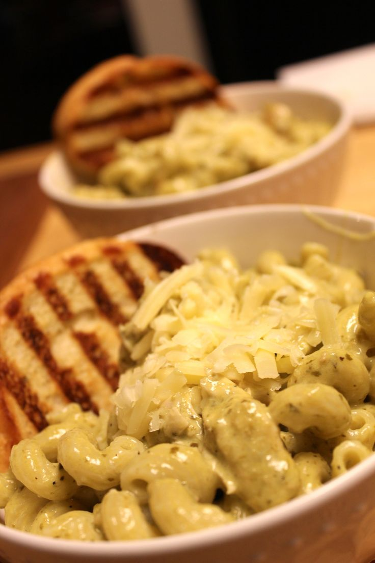 """Whenever my sister goes to the Corner Bakery, she orders Pesto Cavatappi. This is her FAVORITE pasta. I order it every now and then and every time I do I think to myself, """"this has got to be …"""