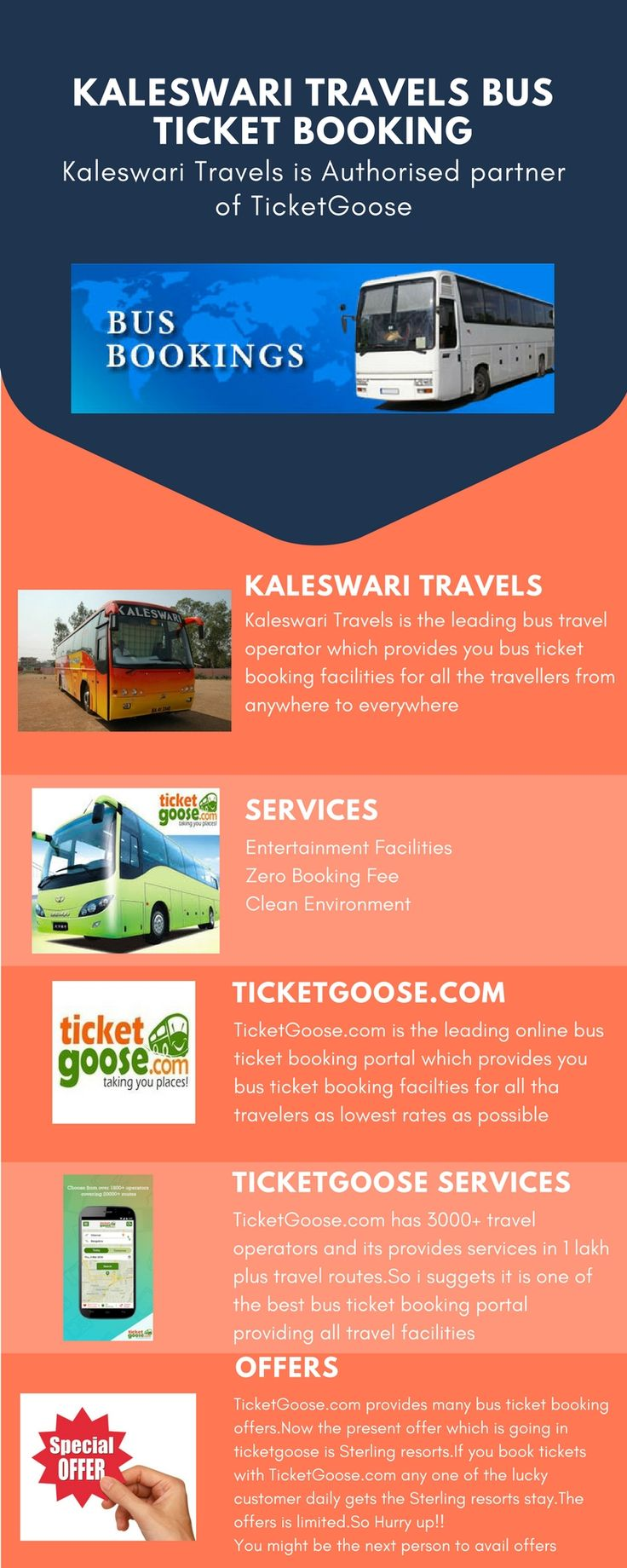 Kaleswari Travels provides you the safe and comfortable journey with best facilities. Book tickets through ticket goose and get discount  on booking  http://www.ticketgoose.com/sree-kaleswari-travels